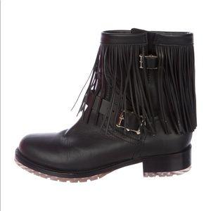 Valentino Rockstud Fringe Boots Size 38